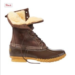 L.L. Bean Boots - Shearling lined '10